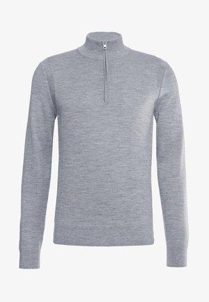 HALF ZIP - Sweter - heather grey