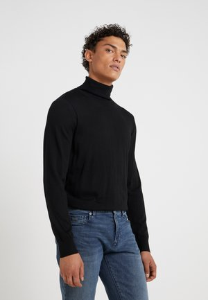 T NECK - Strickpullover - black