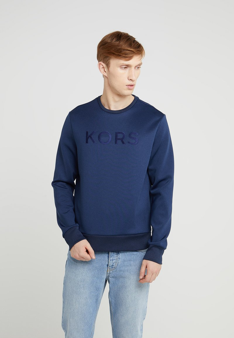 Michael Kors - EMBROIDERED BLOCK LOGO SCUBA CREW - Sweatshirt - midnight
