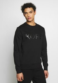 Michael Kors - GARMENT DYE LOGO - Sweater - black - 0