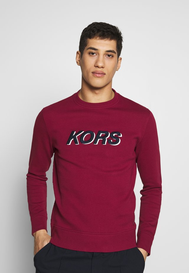 LOGO - Sweatshirt - cassis