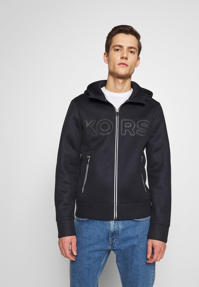 TAPED HOODIE - Mikina na zip - dark midnight