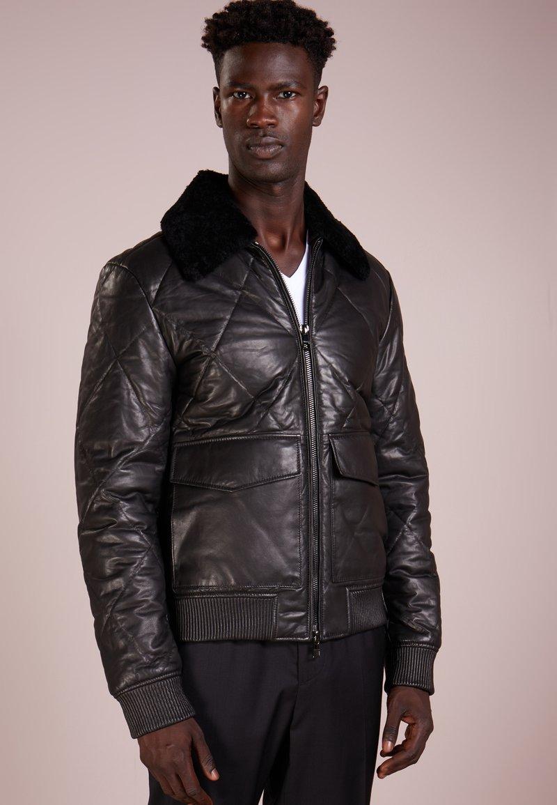 Michael Kors - Leather jacket - black