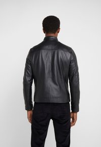 Michael Kors - BASIC RACER JACKET - Nahkatakki - black - 2