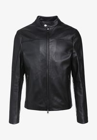 Michael Kors - BASIC RACER JACKET - Nahkatakki - black - 5