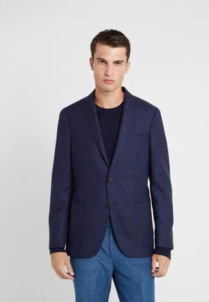 SLIM FIT CHECK  - Blazer jacket - blue