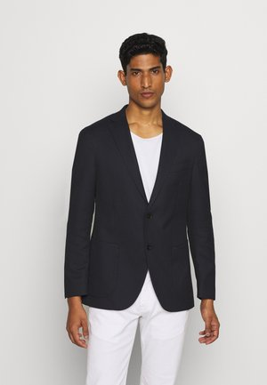 SLIM FIT STRUCTURE BLAZER - blazer - navy