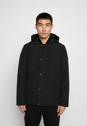 POLY FAILLE HOODY - Light jacket - black