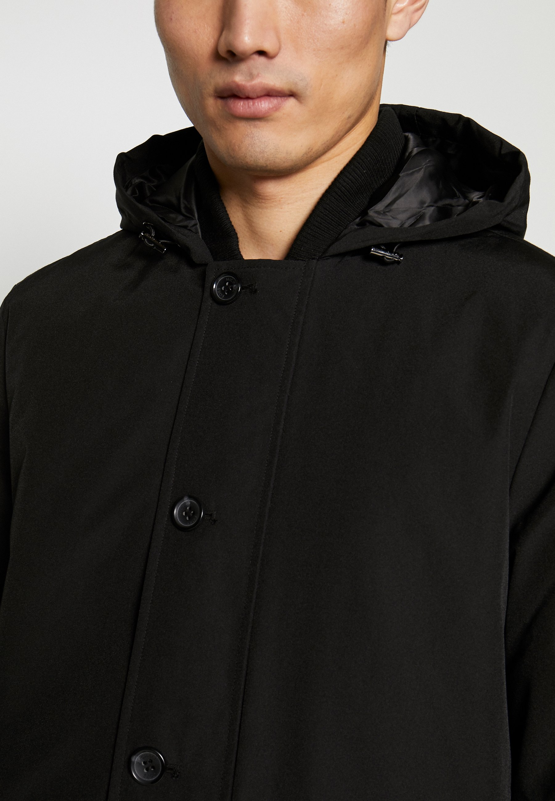 POLY FAILLE HOODY Jas black