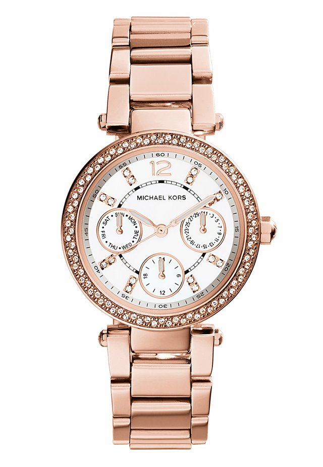 PARKER - Chronograph watch - rosegold-coloured