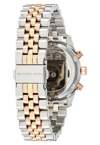 Michael Kors - LEXINGTON - Cronógrafo - silver-coloured/gold-coloured/rosegold-coloured