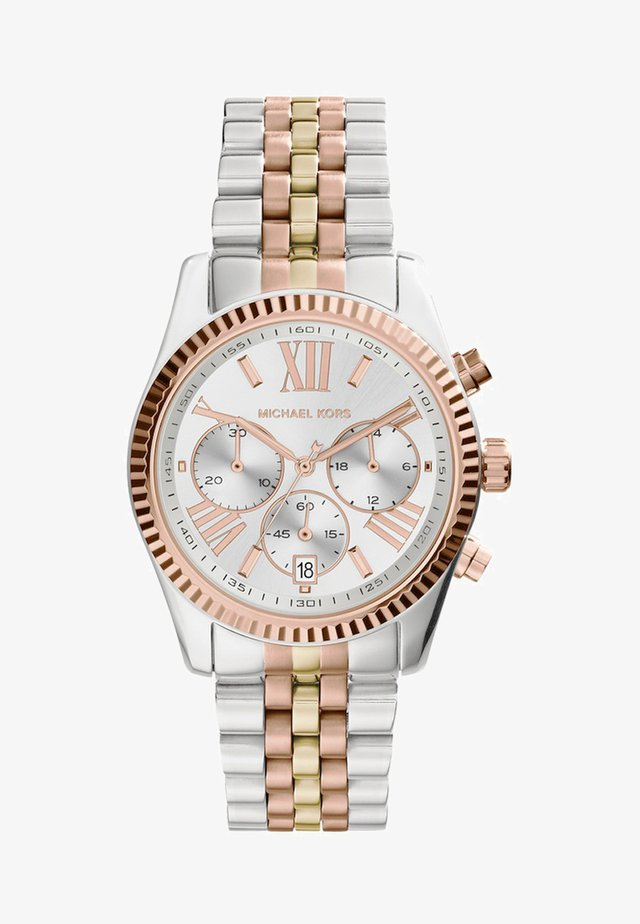LEXINGTON - Chronograph watch - silver-coloured/gold-coloured/rosegold-coloured