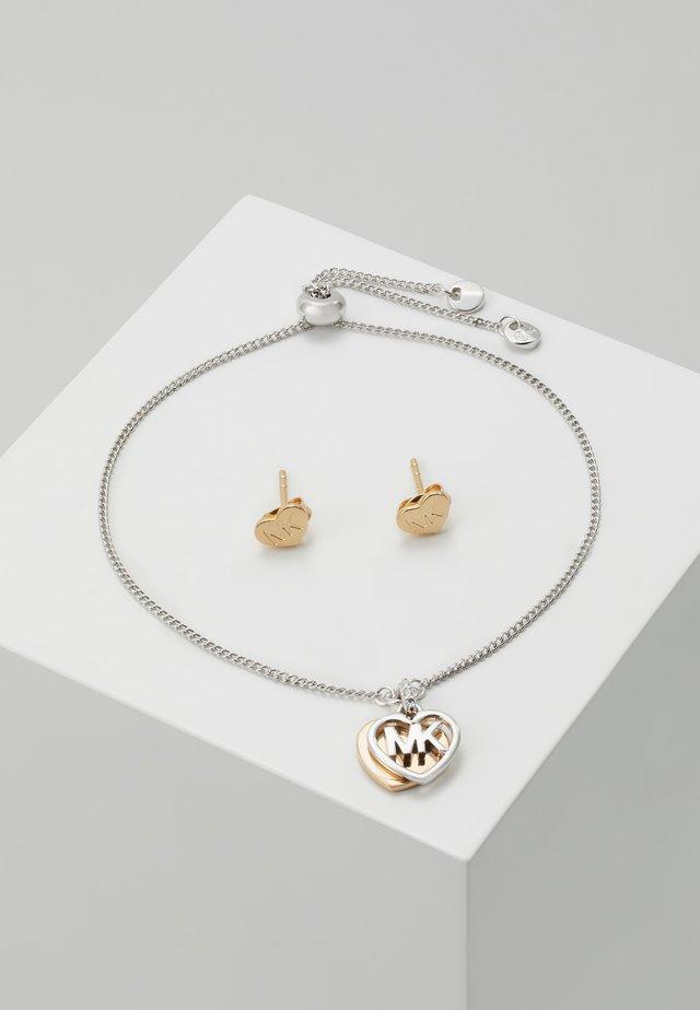PREMIUM SET - Pendientes - silver-coloured/rose gold-coloured