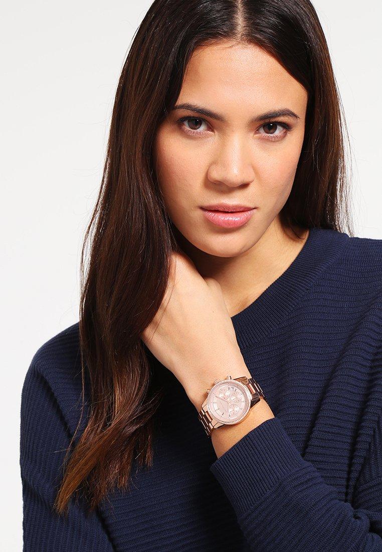 Michael Kors - RITZ - Chronograph watch - rose gold-coloured