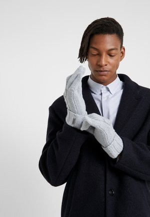STRIPED CABLE GLOVE - Gants - heather grey