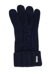Michael Kors - STRIPED CABLE GLOVE - Sormikkaat - midnight - 2