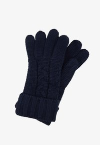 Michael Kors - STRIPED CABLE GLOVE - Gloves - midnight - 1