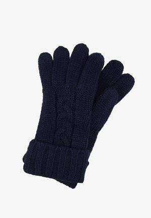 STRIPED CABLE GLOVE - Guanti - midnight