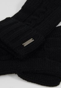 Michael Kors - STRIPED CABLE GLOVE - Gloves - black - 4