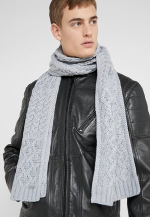 STRIPED CABLE MUFFLER - Schal - heather grey