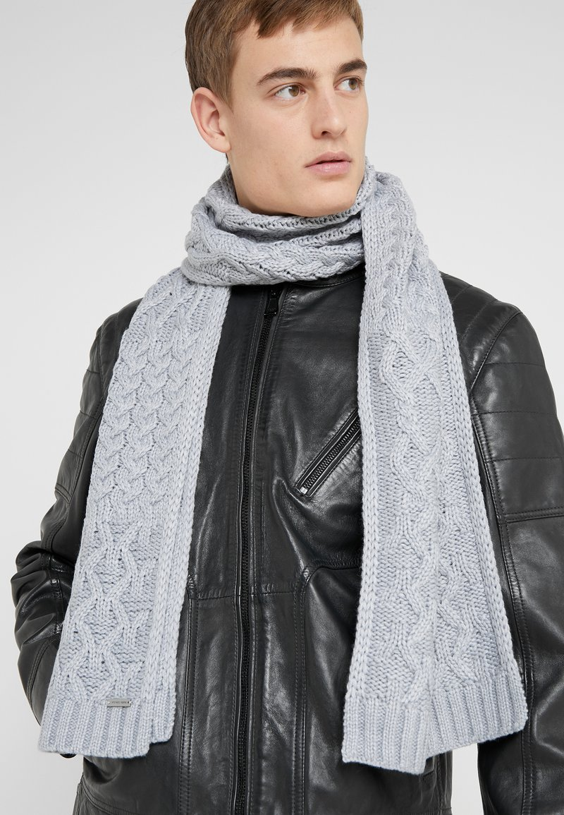 Michael Kors - STRIPED CABLE MUFFLER - Sjaal - heather grey