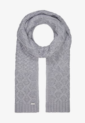 STRIPED CABLE MUFFLER - Écharpe - heather grey