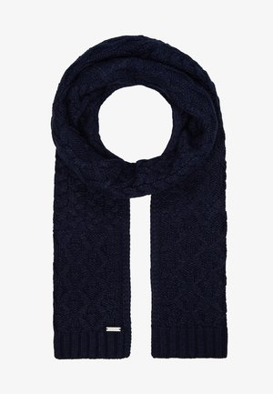 STRIPED CABLE MUFFLER - Halsduk - midnight