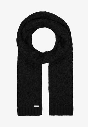 STRIPED CABLE MUFFLER - Sjaal - black