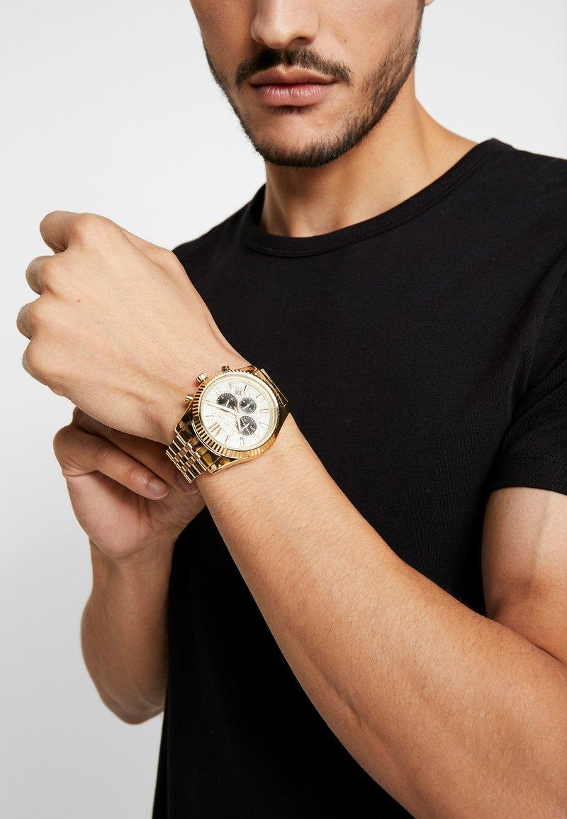 Michael Kors - LEXINGTON - Chronograph watch - gold-coloured