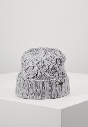 CABLE CUFF HAT - Lue - heather grey