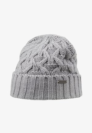 CABLE CUFF HAT - Bonnet - heather grey