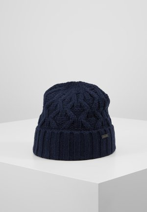CABLE CUFF HAT - Lue - midnight