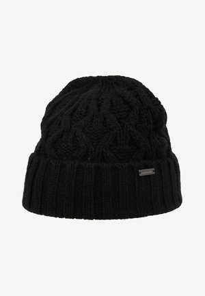 CABLE CUFF HAT - Čepice - black