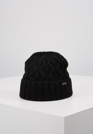 CABLE CUFF HAT - Bonnet - black