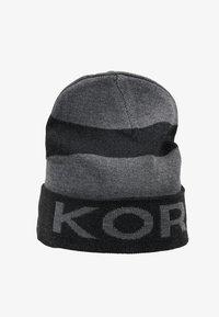 Michael Kors - BOTTOM STRIPE LOGO CUFF HAT - Mütze - charcoalmelange/ash melange/black - 4