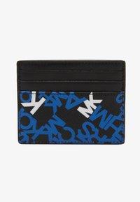 Michael Kors - BROOKLYN TALL CARD CASE - Portafoglio - black/pop blue - 1