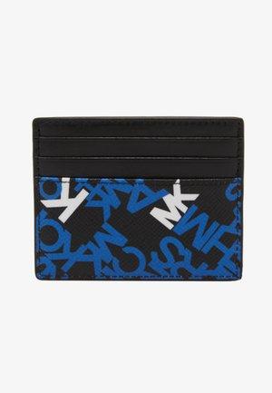 BROOKLYN TALL CARD CASE - Portemonnee - black/pop blue