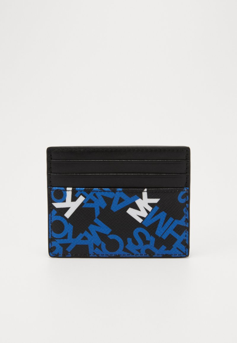 Michael Kors - BROOKLYN TALL CARD CASE - Portafoglio - black/pop blue