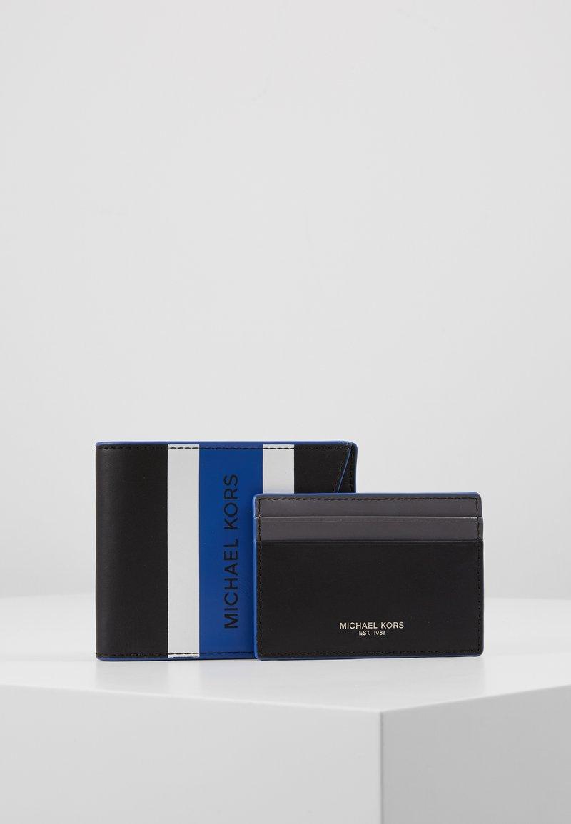 Michael Kors - BILLFOLD & CARD CASE BOX SET - Portefeuille - black/blue