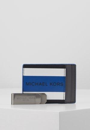 CARD CASE & MONEY CLIP BOX SET - Peněženka - black/twilight blue