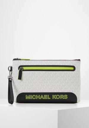 SPORT ZIP POUCH - Wash bag - white/neon yellow