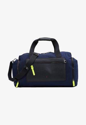 BROOKLYN GYM BAG - Borsa da viaggio - navy/neon yellow
