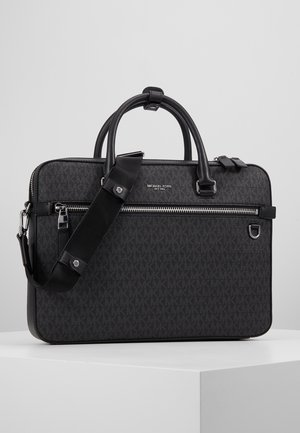 HENRY FRONT ZIP BRIEFCASE - Aktovka - black