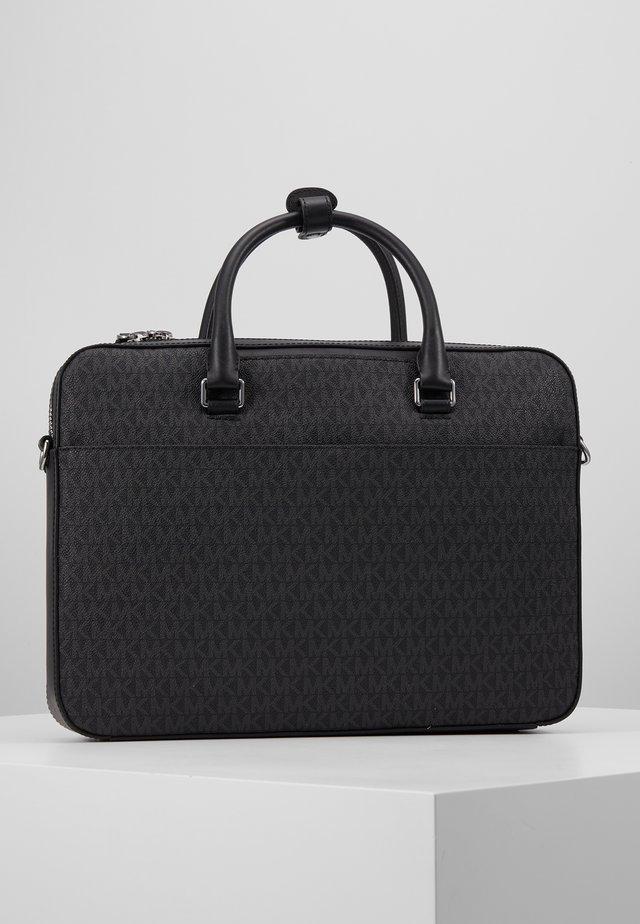 HENRY FRONT ZIP BRIEFCASE - Briefcase - black