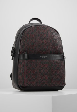 GREYSON BACKPACK - Plecak - black/crimson