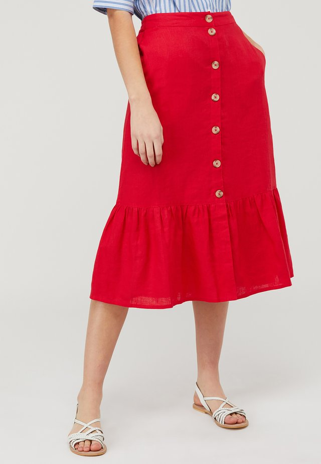 MONIKA  - A-line skirt - red