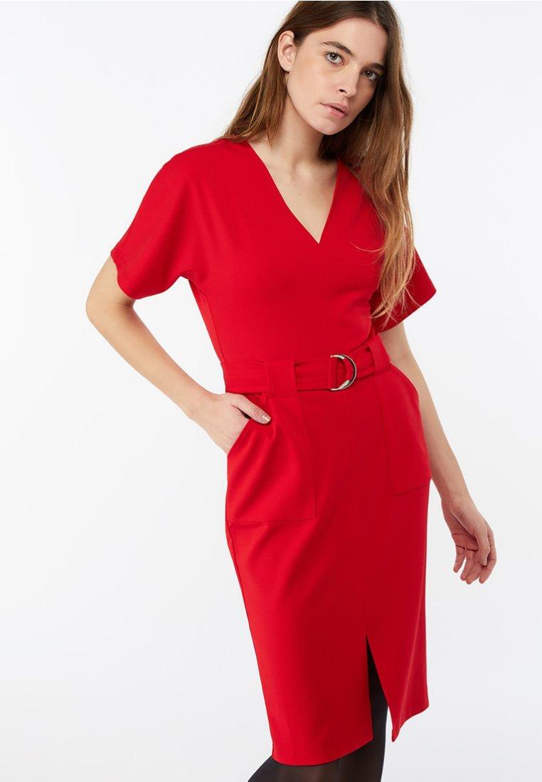 Monsoon - Shift dress - red