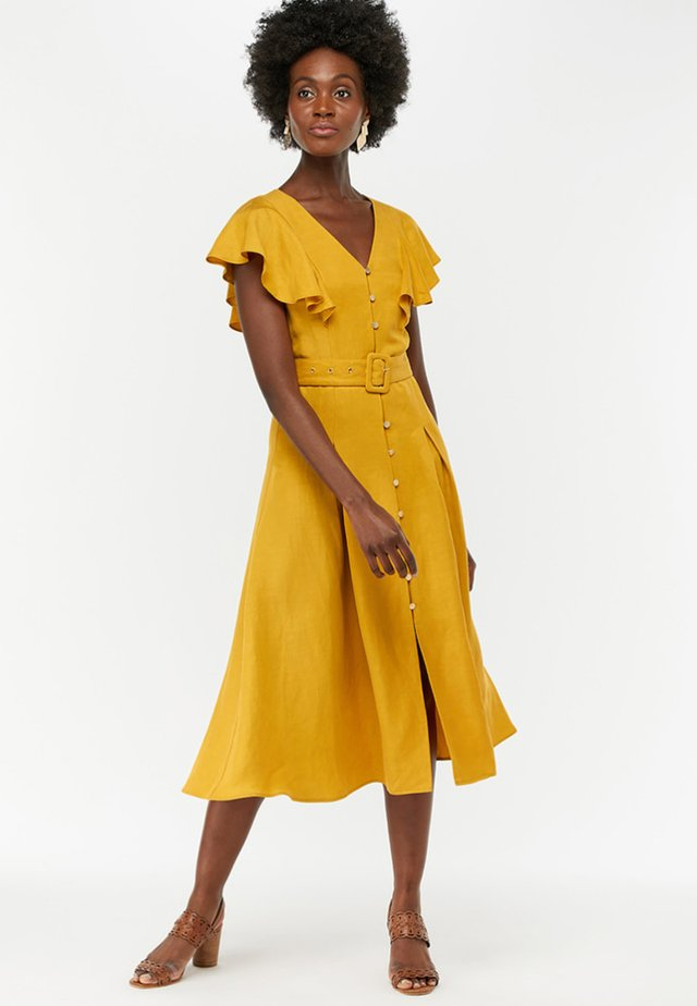 KRISTINA - Shirt dress - yellow