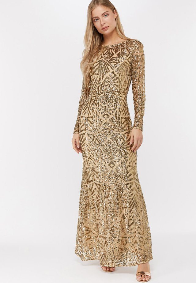 CARLITA SEQUIN - Maxi dress - gold