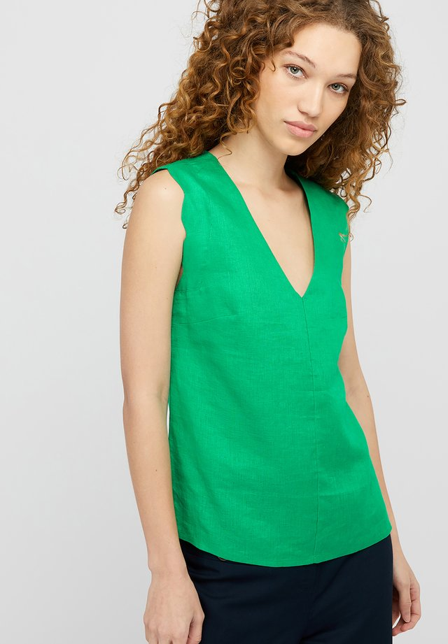 LOTUS SCALLOPED - Blouse - green